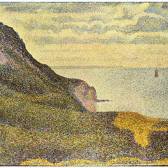 100% Hand Painted Oil on Canvas - View of Port-en-Bessin by Seurat