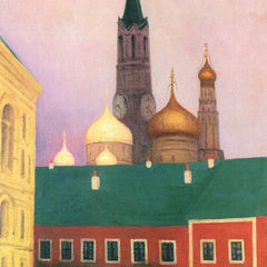 100% Hand Painted Oil on Canvas - View of the Kremlin in Moscow by Felix Vallotton
