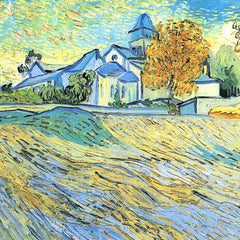 100% Hand Painted Oil on Canvas - View of the church of Saint-Paul-de-Mausole by Van Gogh