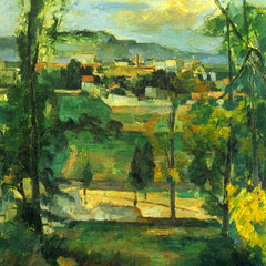 The Museum Outlet - Village behind the trees, Ile de France by Cezanne