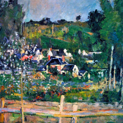 The Museum Outlet - Village behind the view of Auvers-sur-Oise, The Fence by Cezanne
