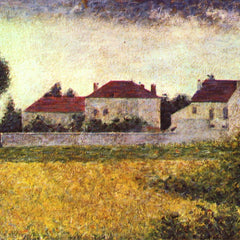 100% Hand Painted Oil on Canvas - Ville d'Avray, The white houses by Seurat