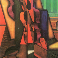 100% Hand Painted Oil on Canvas - Violin and guitar by Juan Gris