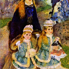 100% Hand Painted Oil on Canvas - Walk by Renoir