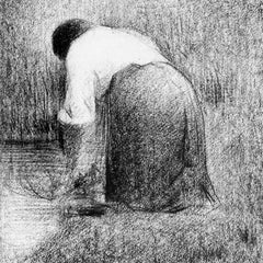 100% Hand Painted Oil on Canvas - Washerwoman by Seurat