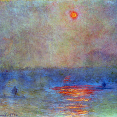 The Museum Outlet - Waterloo Bridge, the sun in the fog by Monet