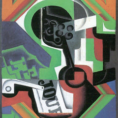 100% Hand Painted Oil on Canvas - Whistle and fruit bowl of grapes by Juan Gris
