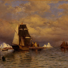100% Hand Painted Oil on Canvas - William Bradford - Looking out of Battle Harbor