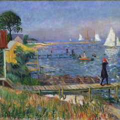 100% Hand Painted Oil on Canvas - William Glackens - Bathers at Bellport