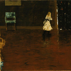100% Hand Painted Oil on Canvas - William Merritt Chase - Hide and seek