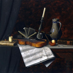 100% Hand Painted Oil on Canvas - William Michael Harnett - Still Life with the Toledo Blade