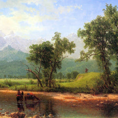 The Museum Outlet - Wind River Mountains, landscape in Wyoming by Bierstadt
