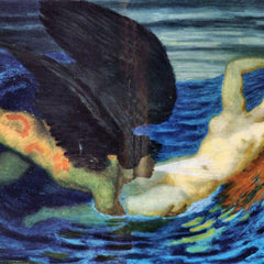100% Hand Painted Oil on Canvas - Wind and Wave by Franz von Stuck