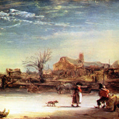 The Museum Outlet - Winter Landscape by Rembrandt