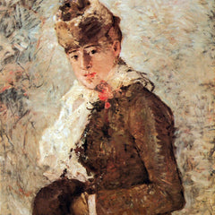 100% Hand Painted Oil on Canvas - Winter (woman with Muff) by Morisot