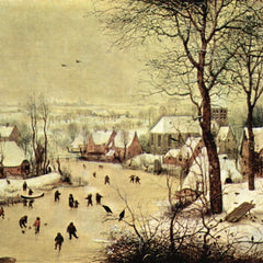The Museum Outlet - Winter landscape with skaters by Pieter Bruegel