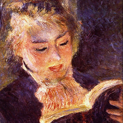 100% Hand Painted Oil on Canvas - Woman Reading by Renoir