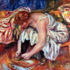100% Hand Painted Oil on Canvas - Woman Shoe Syndicate by Renoir