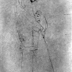 The Museum Outlet - Woman and man standing in profile by Klimt