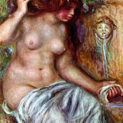 100% Hand Painted Oil on Canvas - Woman at the Well by Renoir
