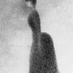 100% Hand Painted Oil on Canvas - Woman by Seurat