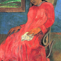 The Museum Outlet - Woman in Red Dress by Gauguin