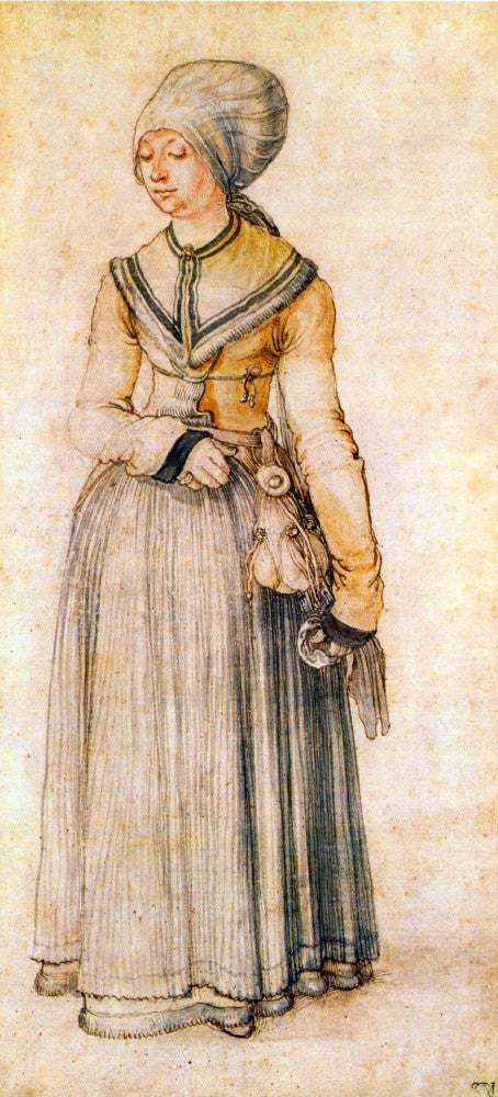 The Museum Outlet - Woman in house dress by Durer