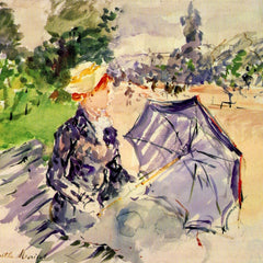 100% Hand Painted Oil on Canvas - Woman in the Bois de Boulogne by Morisot