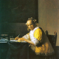 The Museum Outlet - Woman in yellow by Vermeer