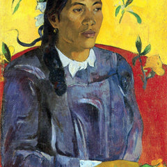 The Museum Outlet - Woman with Flower by Gauguin
