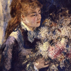 100% Hand Painted Oil on Canvas - Woman with Lilacs by Renoir