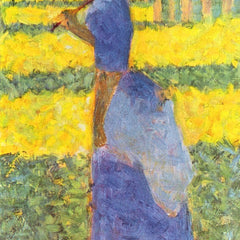 100% Hand Painted Oil on Canvas - Woman with Parasol by Seurat