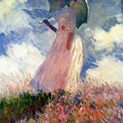 The Museum Outlet - Woman with Parasol, study by Monet