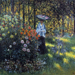 The Museum Outlet - Woman with a parasol in the garden of Argenteuil by Monet