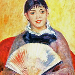 100% Hand Painted Oil on Canvas - Woman with fan by Renoir