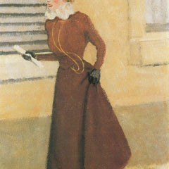 100% Hand Painted Oil on Canvas - Woman with hat by Felix Vallotton