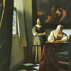 The Museum Outlet - Woman with messenger by Vermeer