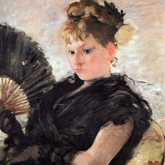 100% Hand Painted Oil on Canvas - Woman with subjects (head of a girl) by Morisot