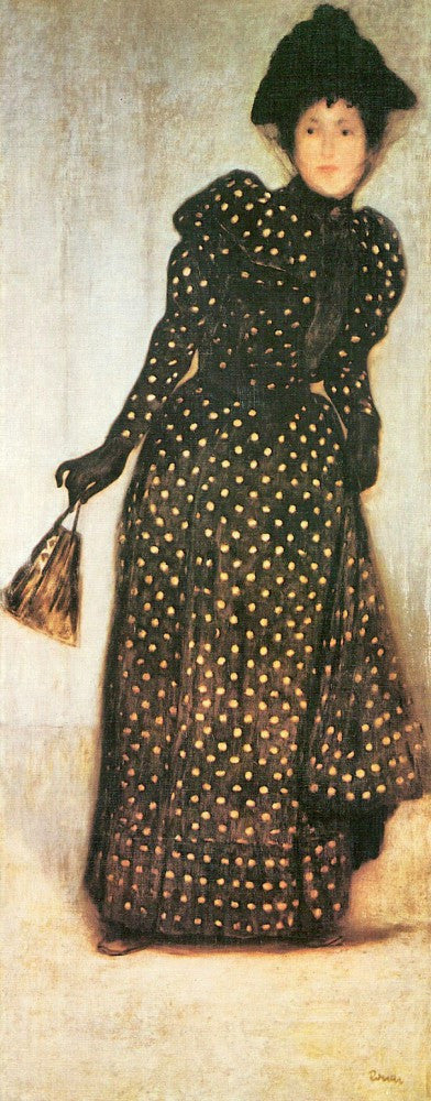 The Museum Outlet - Woman with white-dotted dress by Giovanni Segantini