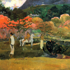 100% Hand Painted Oil on Canvas - Women and Mold by Gauguin