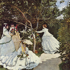 100% Hand Painted Oil on Canvas - Women in the Garden by Monet