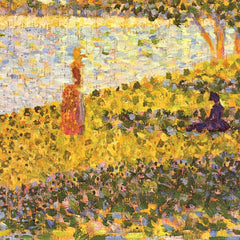 100% Hand Painted Oil on Canvas - Women on the shore by Seurat