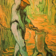 100% Hand Painted Oil on Canvas - Woodcutter (after Millet) by Van Gogh
