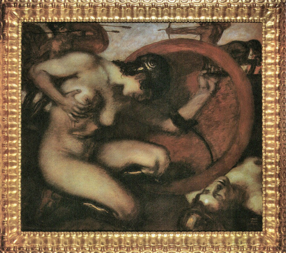 The Museum Outlet - Wounded Amazion [1] by Franz von Stuck