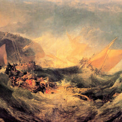 100% Hand Painted Oil on Canvas - Wreck of a transport ship by Joseph Mallord Turner