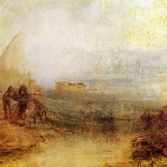 100% Hand Painted Oil on Canvas - Wreckers on the coast by Joseph Mallord Turner