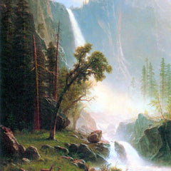 100% Hand Painted Oil on Canvas - Yosemite Falls by Bierstadt