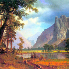 100% Hand Painted Oil on Canvas - Yosemite Valley 2 by Bierstadt