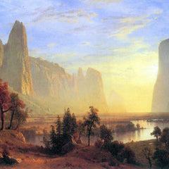 100% Hand Painted Oil on Canvas - Yosemite Valley by Bierstadt