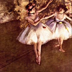 100% Hand Painted Oil on Canvas - Young Dancers by Degas